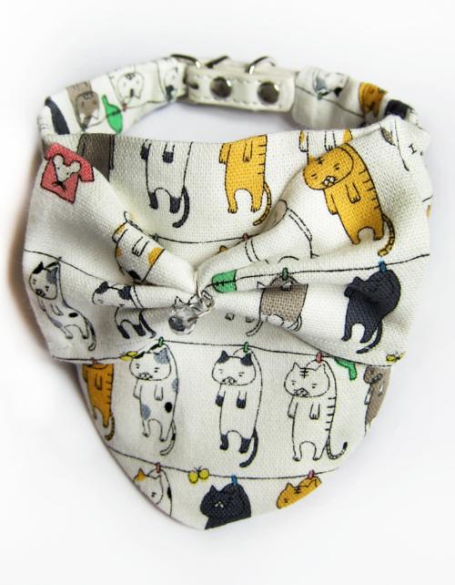 Foulard chat Cat scarf Pets accessories KFarah Paris' accessories Les accessoires KFarah Paris
